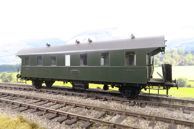 Hubner O Gauge DB Green Four Wheel Passenger Coach