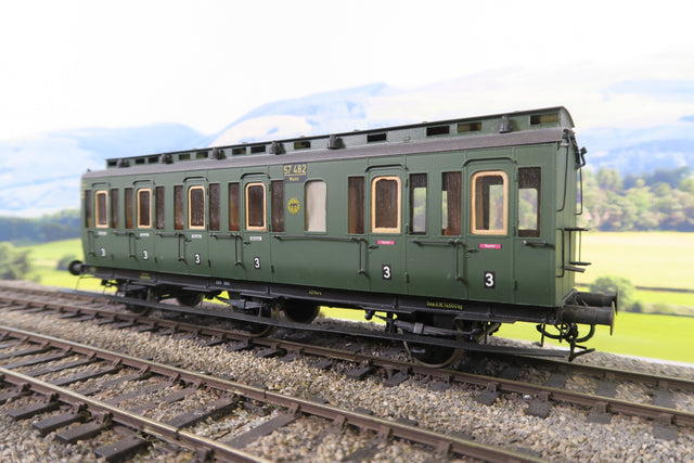 O Gauge Kit Built DR Green Third Class Clerestory Coach '57482'