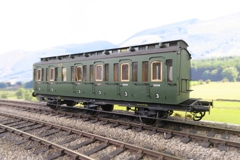 O Gauge Kit Built DR Green Third Class Clerestory Coach '59136'