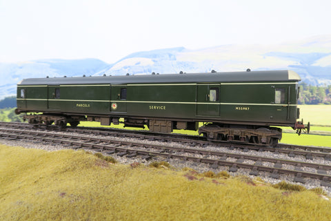 7mm Finescale O Gauge Kit Built BR Green Class 128 'M55987' 'Parcels Service' Weathered!