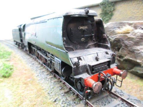 7mm Finescale O Gauge Kit Built BR Battle of Britain Class 4-6-2 '34038' 'Lynton'
