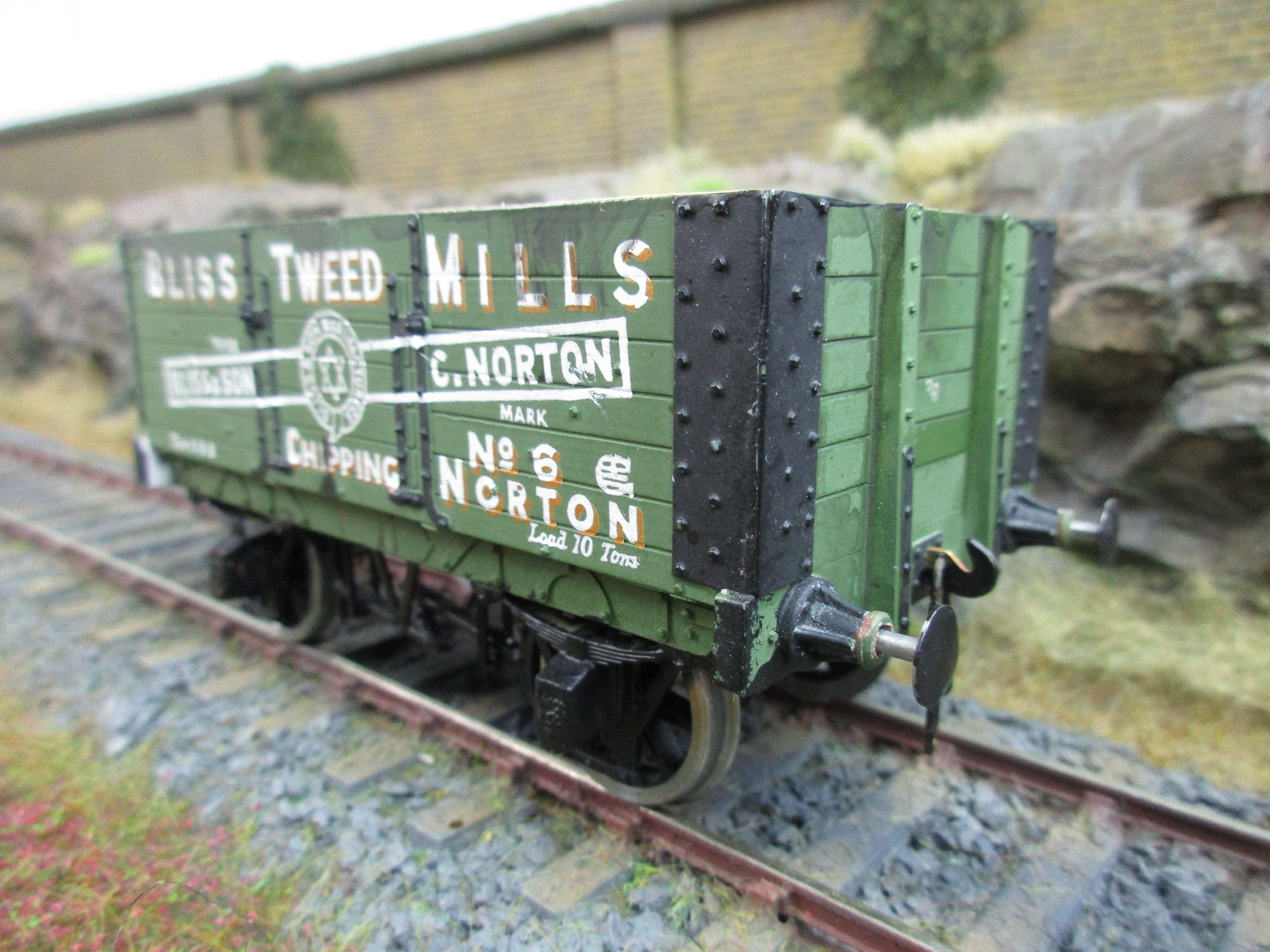 7mm Finescale O Gauge Kit Built PO Wagon 'Bliss Tweed Mills'
