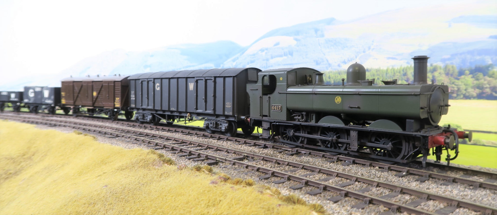 Dapol 7mm Finescale O Gauge 7S-024-002S GWR Green 64XX 0-6-0PT '6417' Weathered DCC Sound!