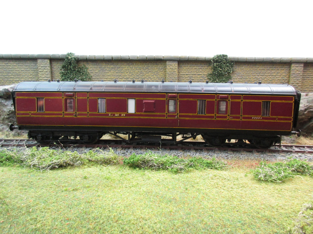 7mm Finescale O Gauge Kit Built LMS Lined Maroon Full Brake Coach '30564'