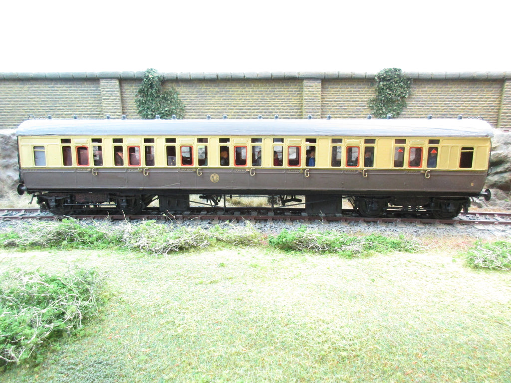 7mm Finescale O Gauge Kit Built GWR Chocolate and Cream First/Third Class Corridor Coach '7720'