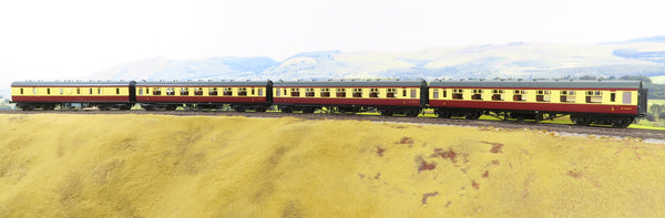 MTH 7mm Finescale O Gauge 20-60008-2 Rake of Four BR Blood and Custard