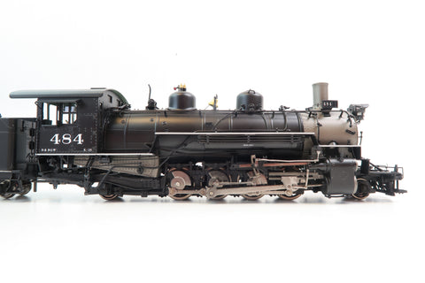 Mountain Model Imports ON3 Scale 1091-7 D&RGW K36 2-8-2 Factory Painted Black Boiler '484'
