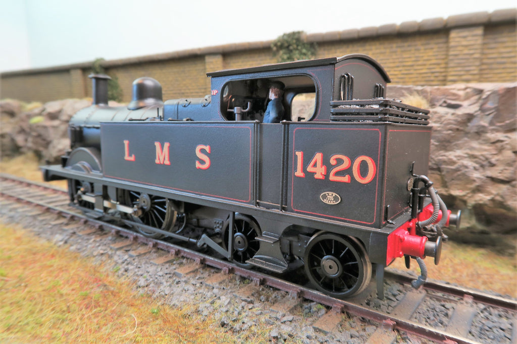 7mm Finescale O Gauge Kit Built LMS Lined Black Stanier 0-4-4T '1420'