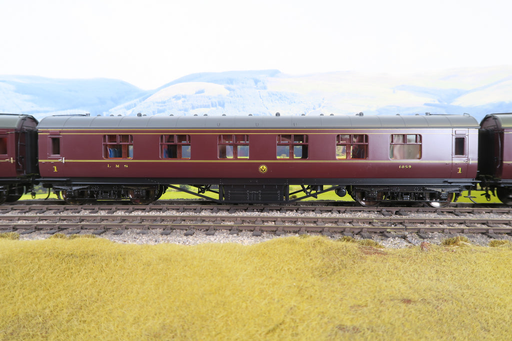 MTH 7mm Finescale O Gauge 22-60064 LMS Standard Corridor First '1059'