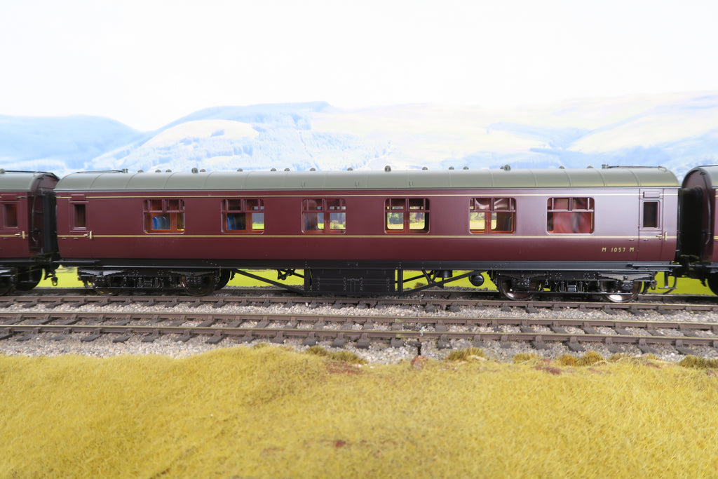 MTH 7mm Finescale O Gauge 22-60054 BR Maroon Standard Corridor First 'M1057'