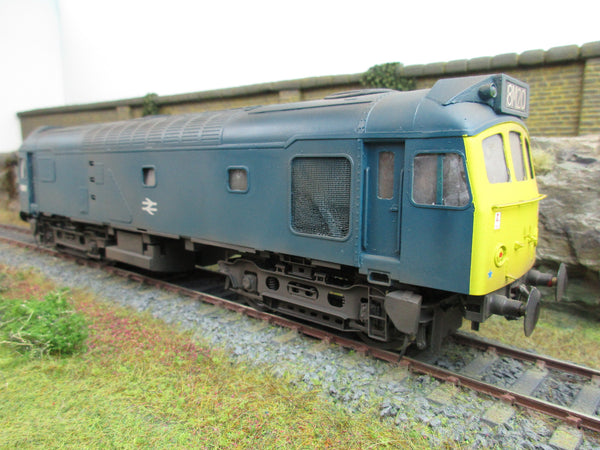 Bachmann Brassworks / Sancheng 7mm Finescale O Gauge BR Blue With Yellow Ends Class 25 Diesel '5281' Weathered!