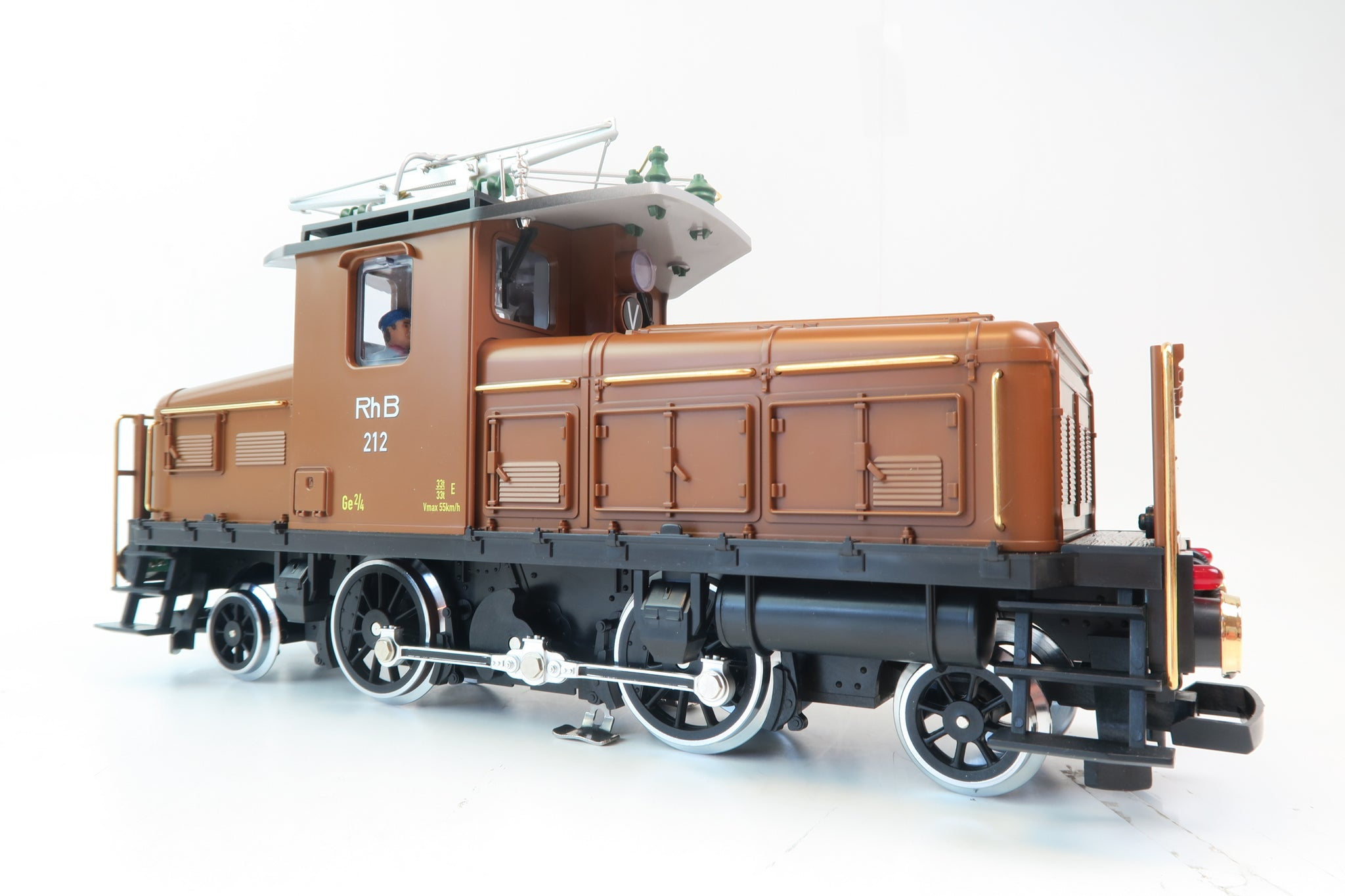 LGB G Scale 1:22.5 21440 RHB '212' Electric Locomotive