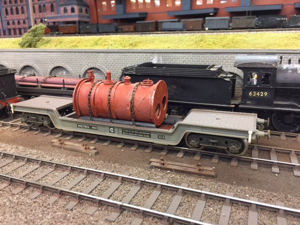 Darstaed 7mm Finescale O Gauge 45 Ton Bogie Well Wagon Br