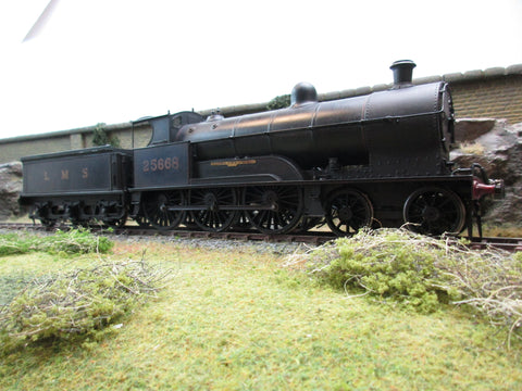 7mm Finescale O Gauge Kit Built LMS Black Prince of Wales Class 4-6-0 '25668' 'Pegasus'