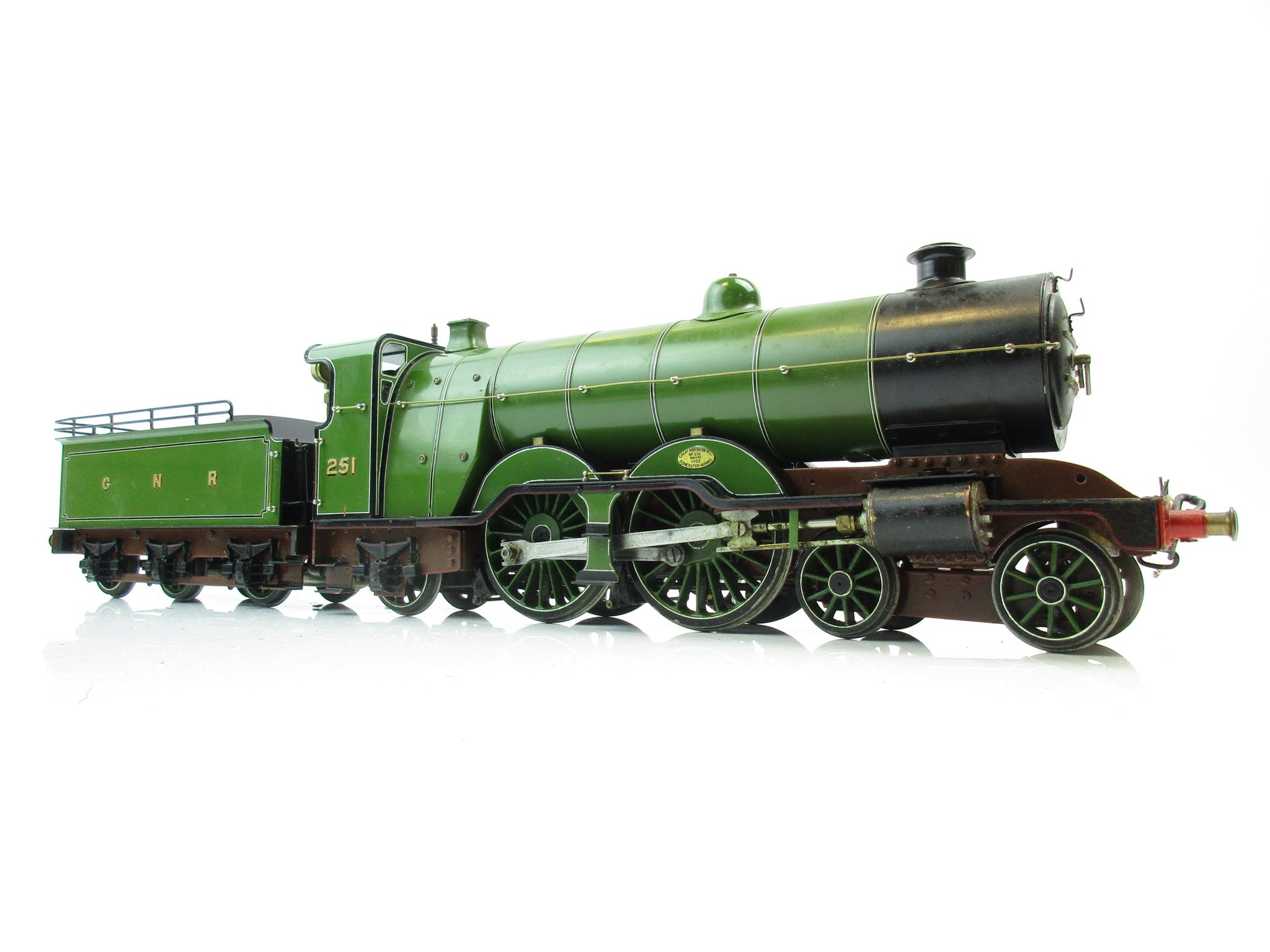Dave Baker Gauge 1 Live Steam Scratch Built GNR Atlantic 4-4-2 '251'