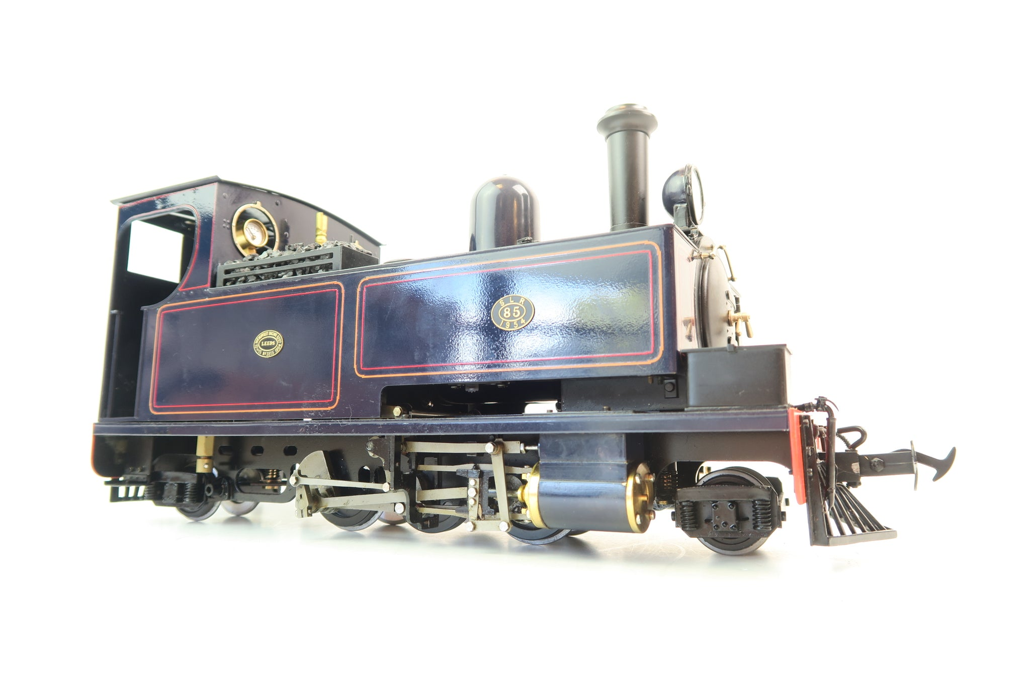 Accucraft 16mm/SM32 Live Steam S19-26BU W&L Hunslet 'SLR' '85' Blue Live Steam with Radio Control