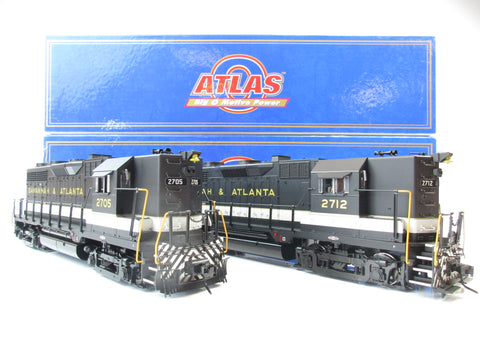 Atlas O Gauge 2113-1, 2163-1 GP-35 Diesel Locomotives - High Nose Savannah & Atlanta 2705, 2712