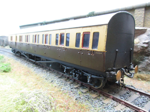 Rjh 7mm Finescale O Gauge Kit Built Gwr Suburban Coaches