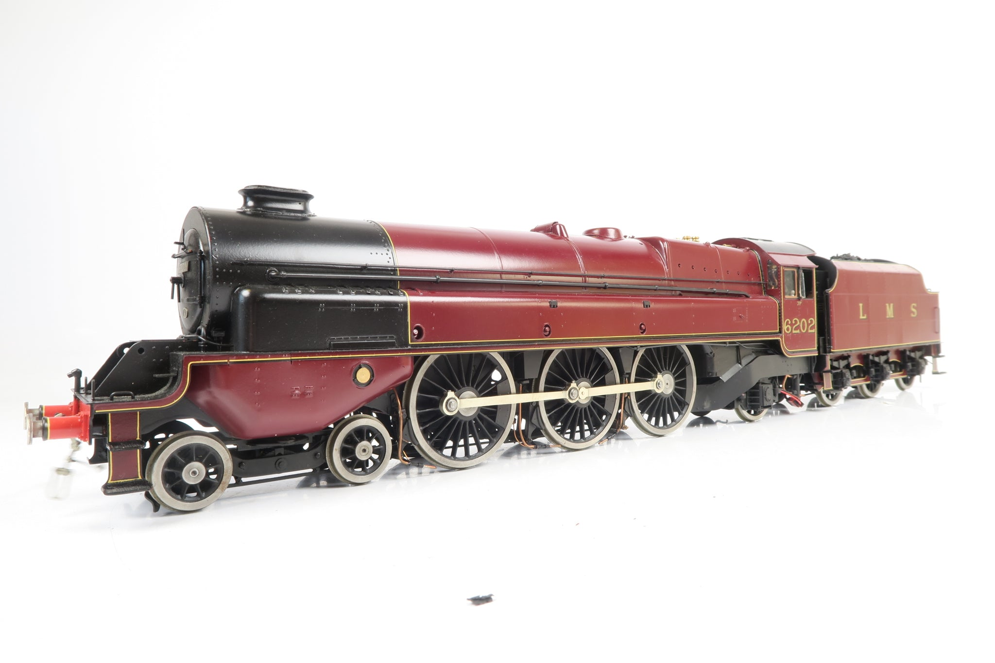 Gauge 1 Scratch Built LMS Maroon 'Turbomotive' 4-6-2 '6202' with Radio Control and Smoke!