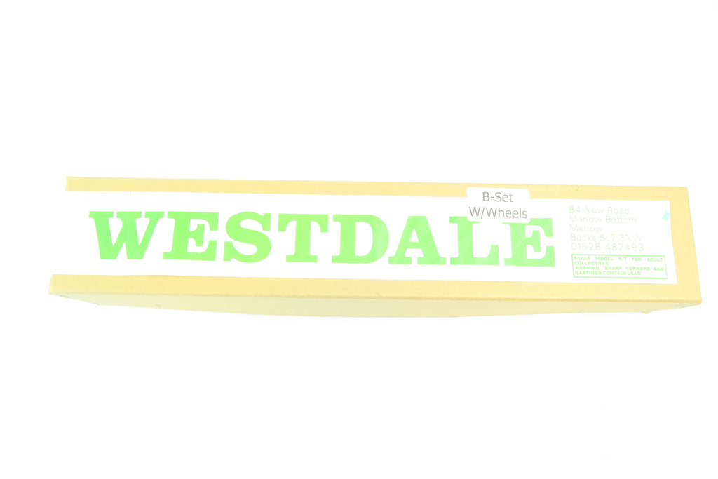 Westdale 7mm Finescale O Gauge E145 GWR 60' Suburban Composite Brake (B Set) with Wheels