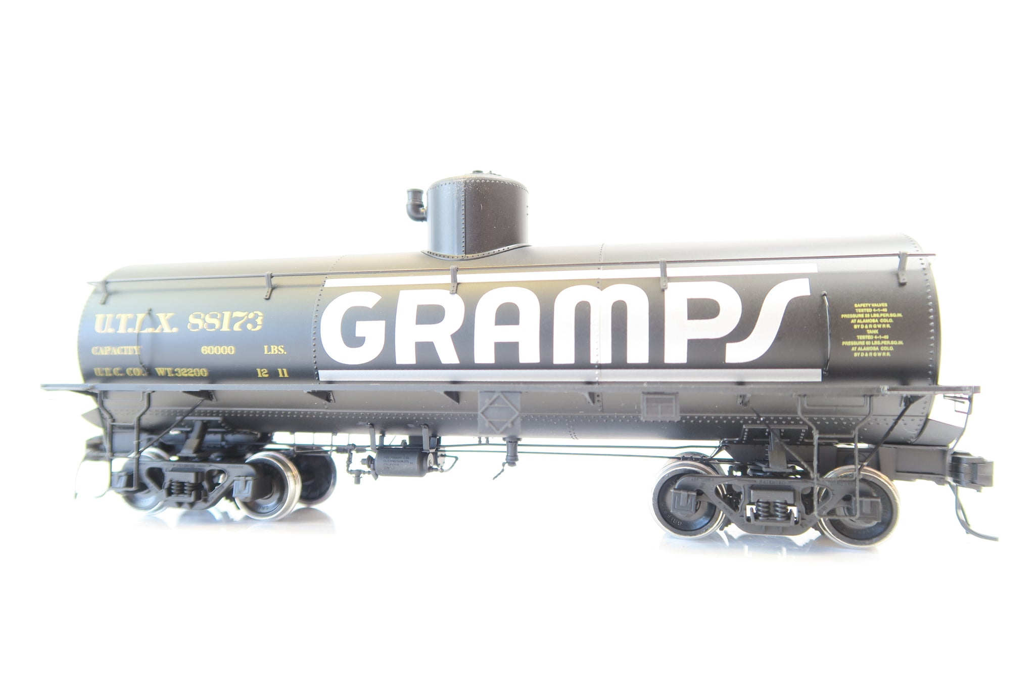 San Juan Car Co. On3 Scale Gramos Tank Car '88173'