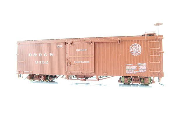 AMS On3 Scale D&RGW BOX CAR 3000 Series '3452'