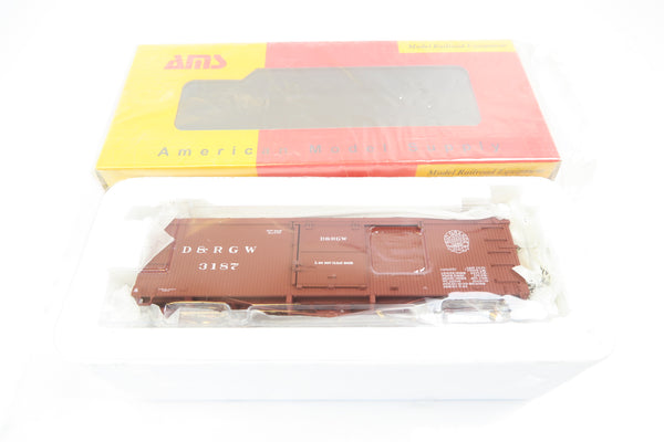 AMS On3 Scale D&RGW BOX CAR 3000 Series '3187'