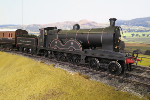 7mm Finescale O Gauge Kit Built LYR Lined Black Class 7 4-4-2 '711' with Rake of Five LYR Coaches