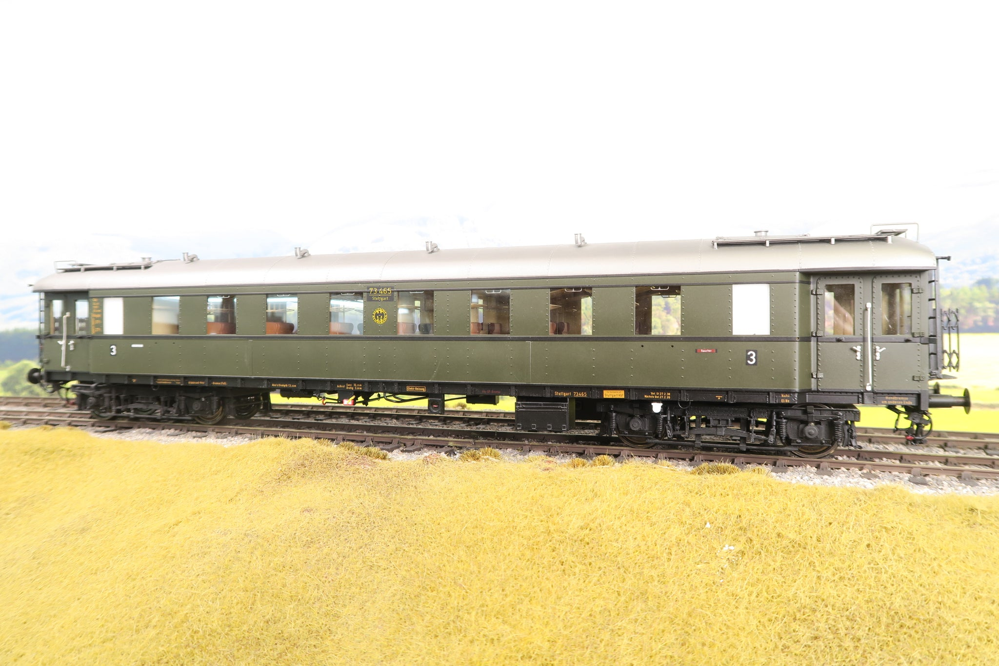 Wunder O Gauge DR Green 2nd Class Coach '73465' Epoche III
