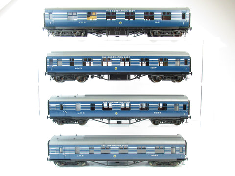 MTH 22-60055 2 Rail 7mm Finescale O Gauge Coronation Scot 4-Car LMS Passenger Set