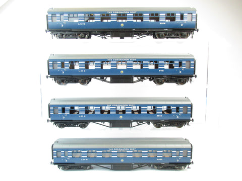 MTH 22-60039 2 Rail 7mm Finescale O Gauge Coronation Scot 4-Car LMS Passenger Set