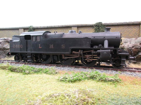 7mm O Gauge Finescale Scratch Built LMS Black 2-6-4T Stanier 4P '2610'