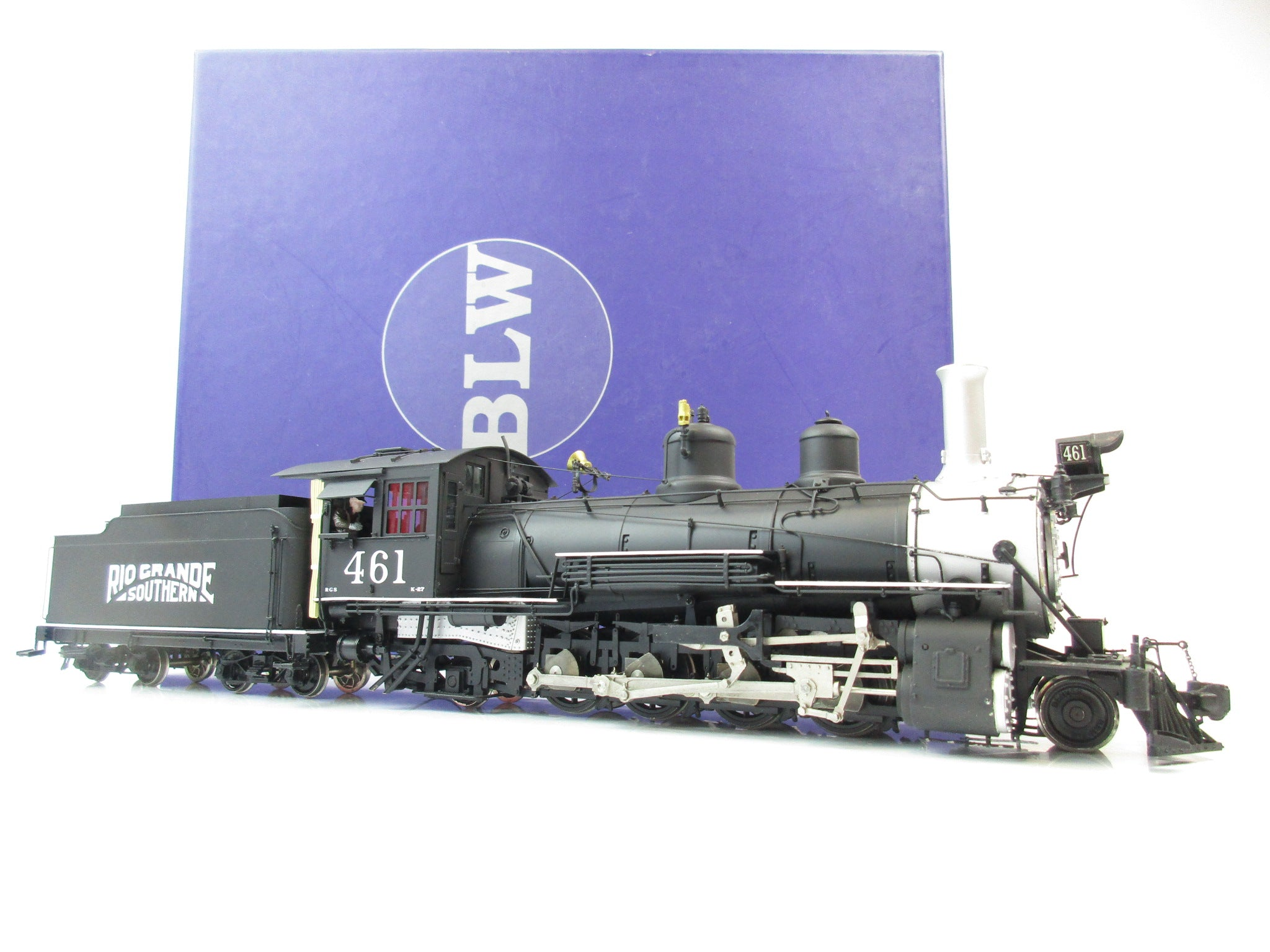 BLW On3 Gauge Rio Grande Southern 2-8-2 Class K-27 Premier Model '461'