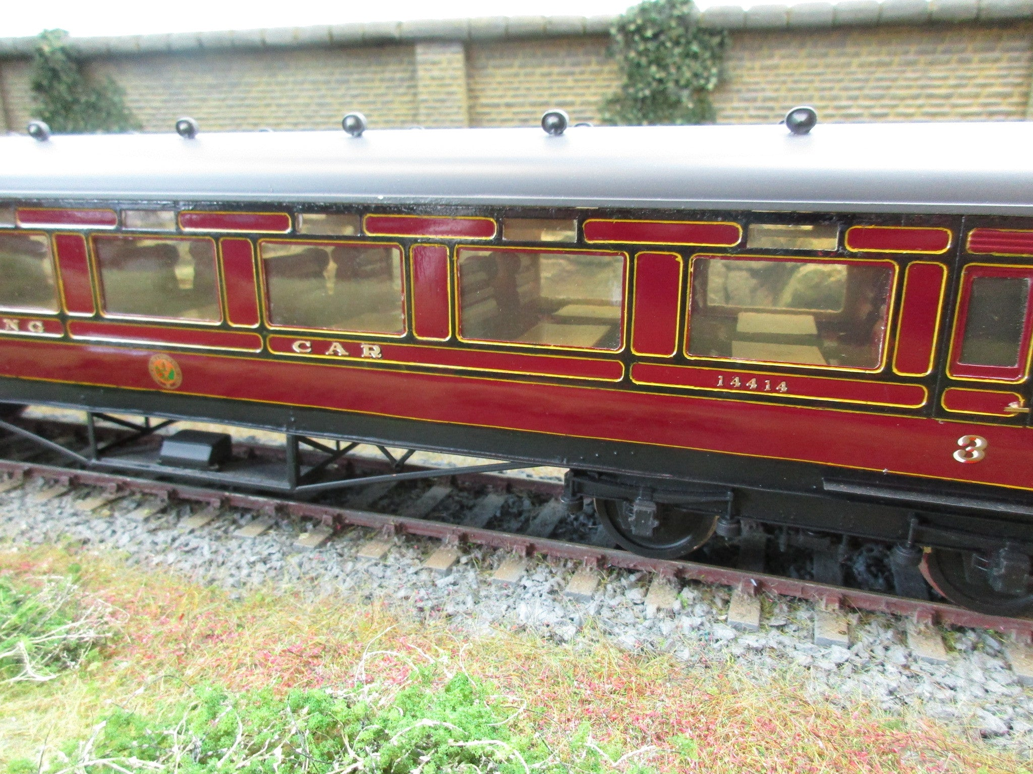 7mm Finescale O Gauge Kit Built Lms Lined Maroon 3rd Class