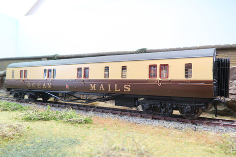 Copy of 7mm Finescale O Gauge Kit Built GWR 'Ocean Mails' Luggage Coach '1172', Dia K38