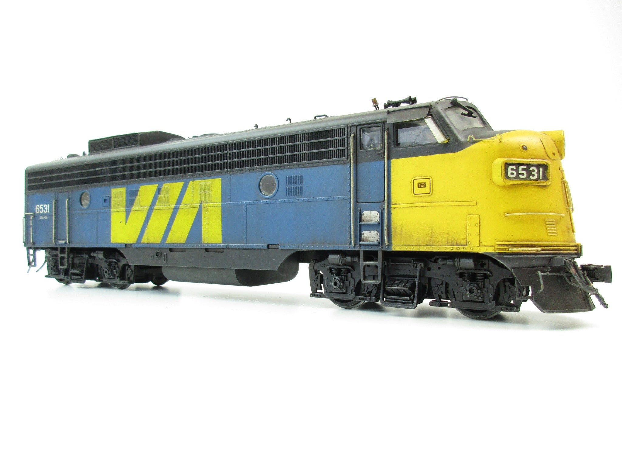 Atlas O Gauge Via Rail F-7 A Unit '6531' Professionally Weathered