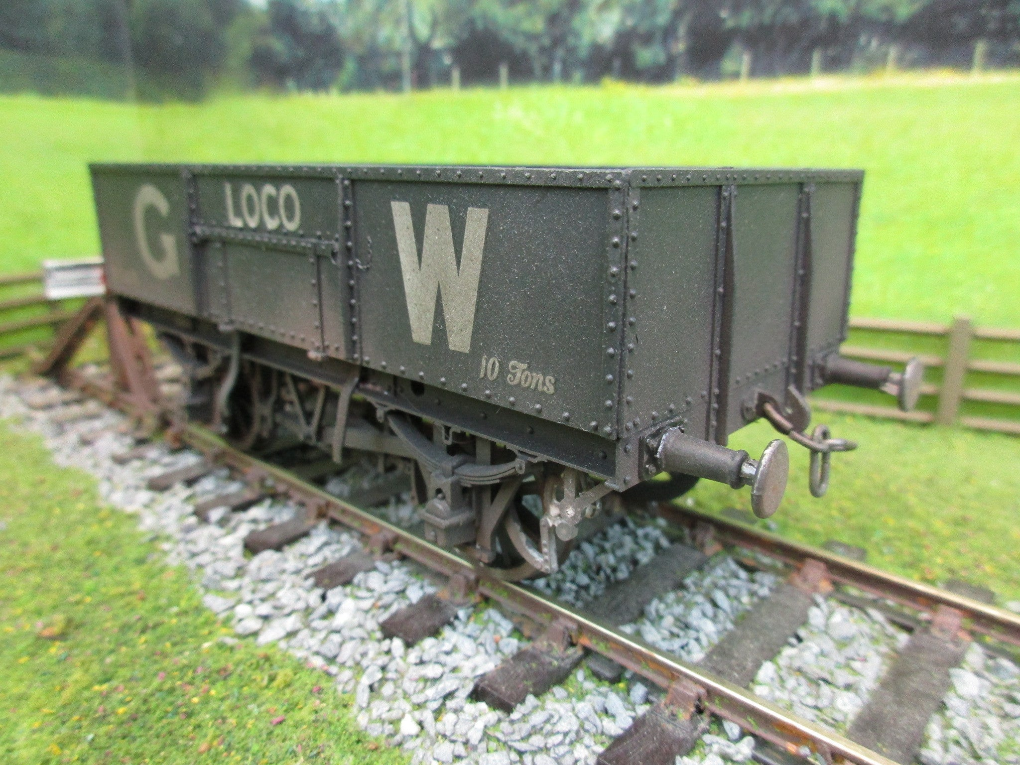 7mm Finescale O Gauge Kit Built GWR 10T Wagon '9546'