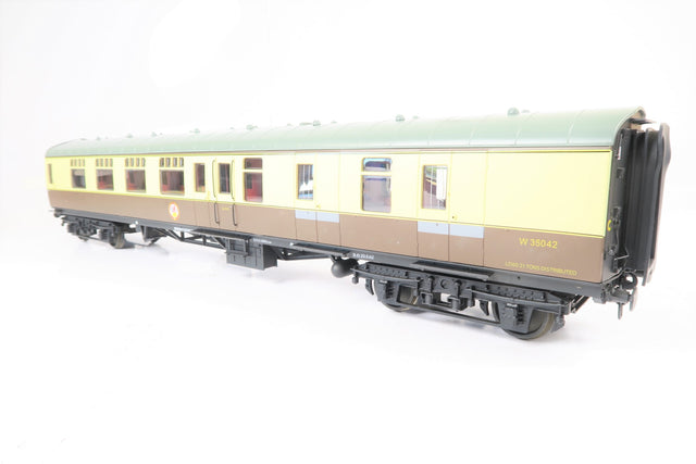 Accucraft Gauge 1 1:32 W35042 Chocolate & Cream BR Mk1 Brake Second Corridor Coach