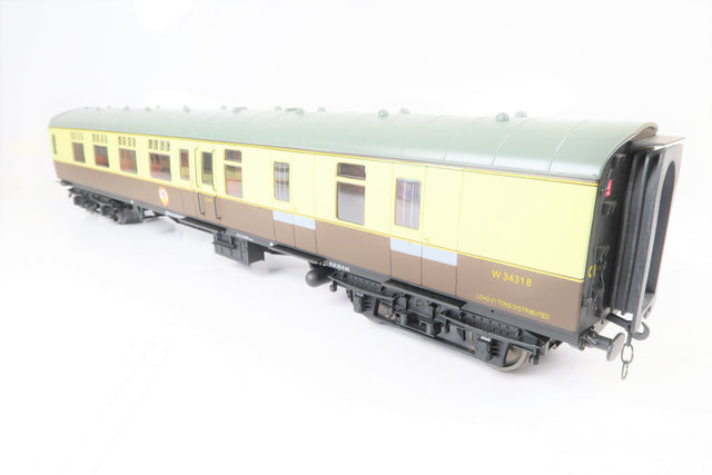 Accucraft Gauge 1 1:32 W34318 Chocolate & Cream BR Mk1 Brake Second Corridor Coach