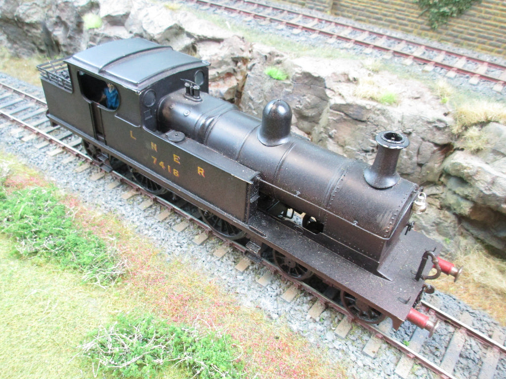 7mm Finescale O Gauge Kit Built LNER 4-4-2T Robinson C13 '7418' DCC Sound & Smoke!