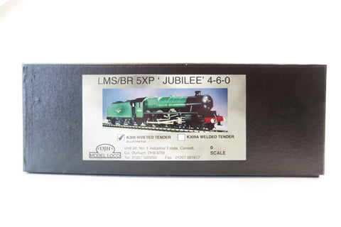 DJH 7mm Finescale O Gauge LMS/BR 5XP 'Jubilee' 4-6-0 Kit with K309 Tender