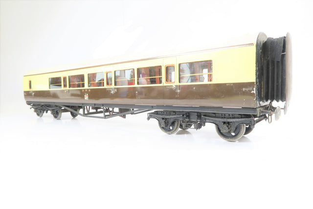Kit/Scratch Built Gauge 1 10mm Rake of 5 GWR Collett Coaches