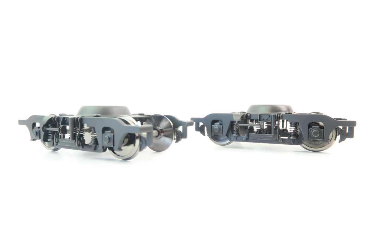 Darstaed D21-A02 Finescale O Gauge Pair of Sprung Commonwealth Bogies with Wheels