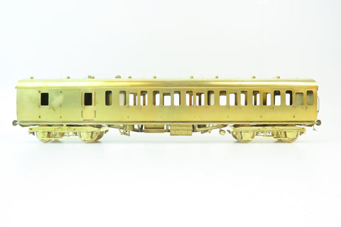 Sancheng/Bachmann Brasswords 7mm Finescale O Gauge MK1 Suburban Brake/Composite Coach (Plain Brass)