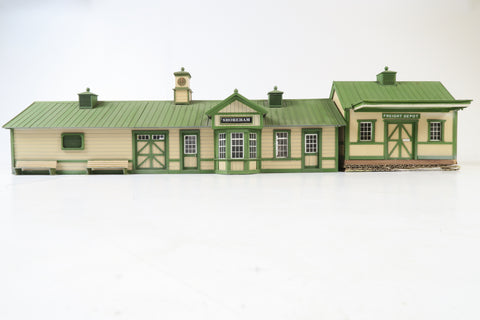 Allan Downes O Gauge American Style Shoreham Station + Freight Depot