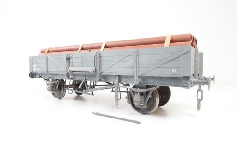 Gauge 1 10mm Kit Built LMS Tube Carrying Wagon '303655'