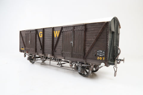 Gauge 1 10mm Kit Built GWR 20T Double Vent Wagon '112809'