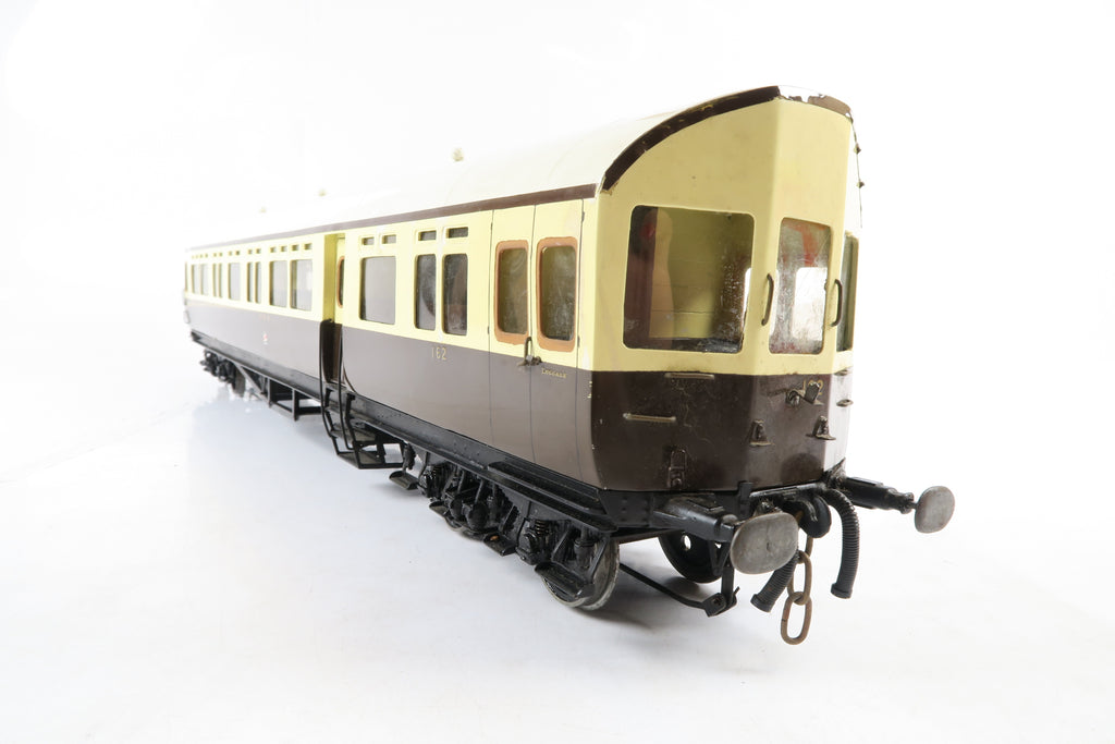 Scratch/Kit Built Gauge 1 10mm GWR Chocolate & Cream Brake Open Coach '162'