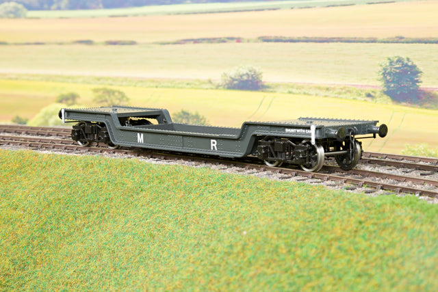 Darstaed D32-8 7mm Finescale O Gauge 45 Ton Bogie Well Wagon MR Livery
