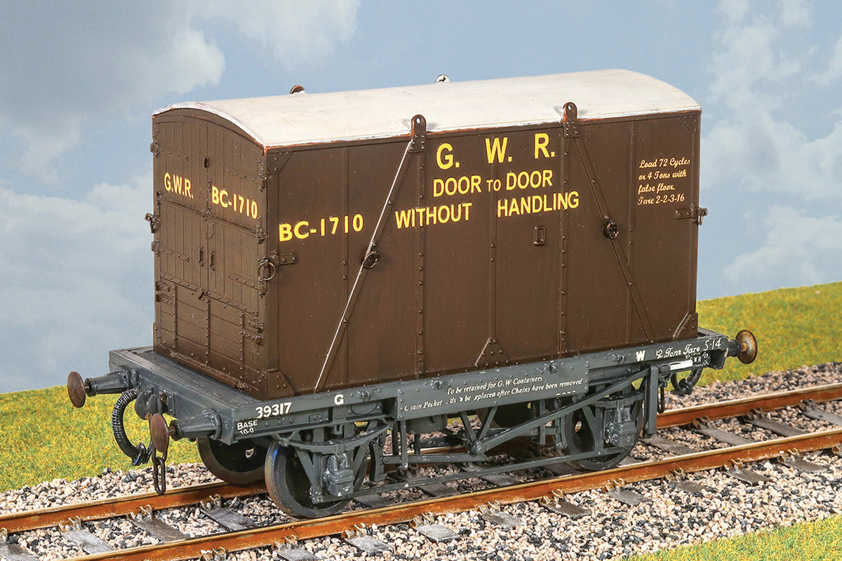 Parkside Dundas O Gauge PS39 GWR Container Wagon with 'B' Container, Kit w/Wheels